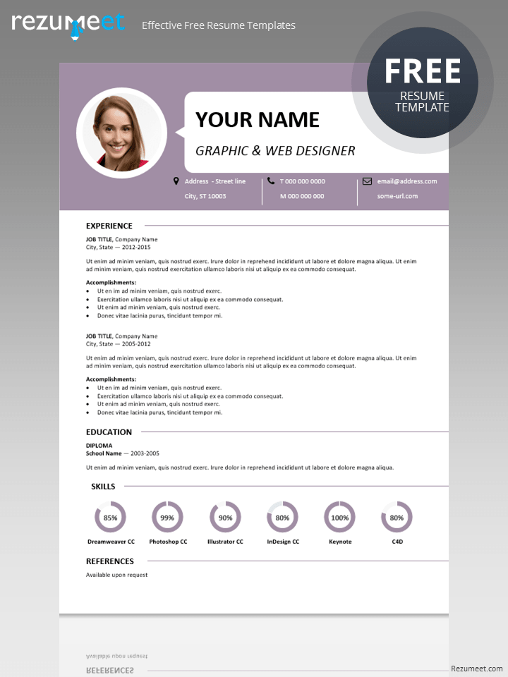 classic free resume template