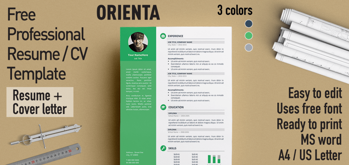 Free Professional Resume CV Template – Professional Resume Cv Template