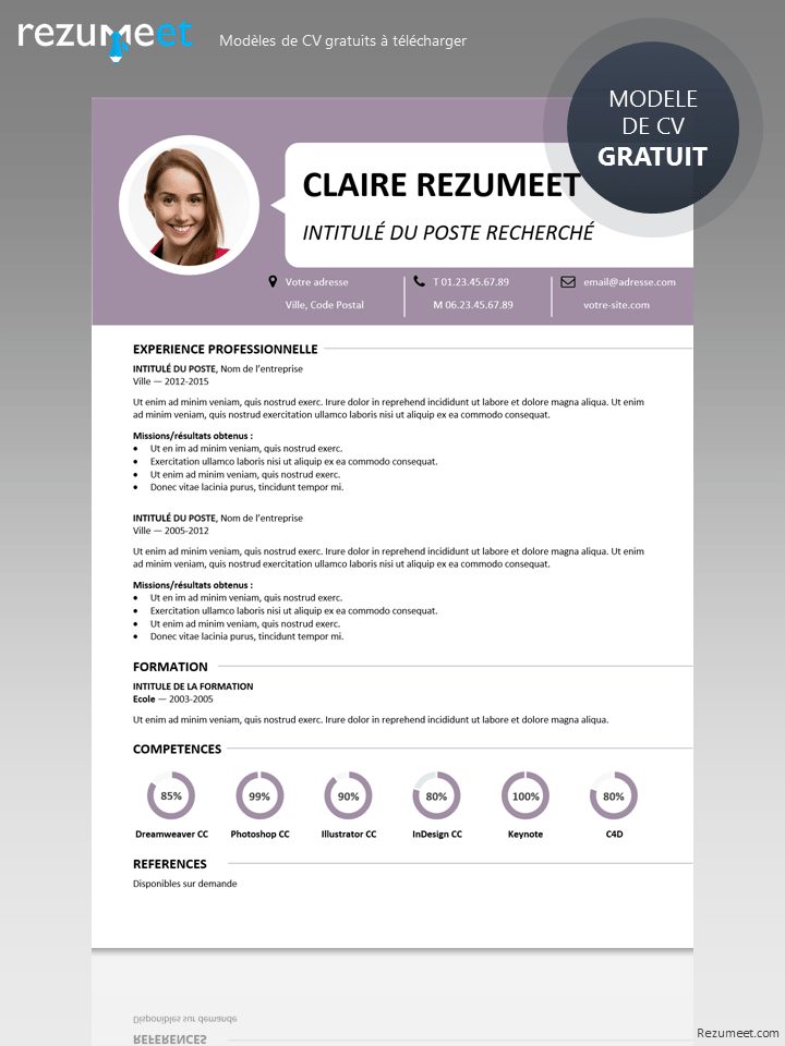Centrum - Modèle gratuit de CV à télécharger