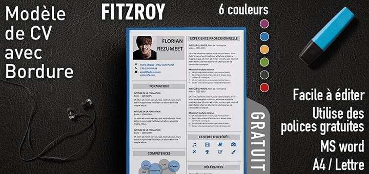 Fitzroy Modèle De Cv Avec Bordure Rezumeet Com