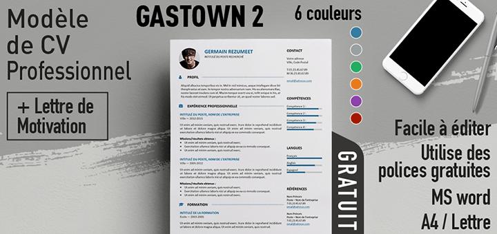 Gastown2 - Modèle de CV gratuit et professionnel