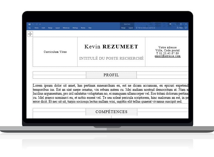 Kallio - Modèle de CV simple pour Word clairement organisé avec des tableaux