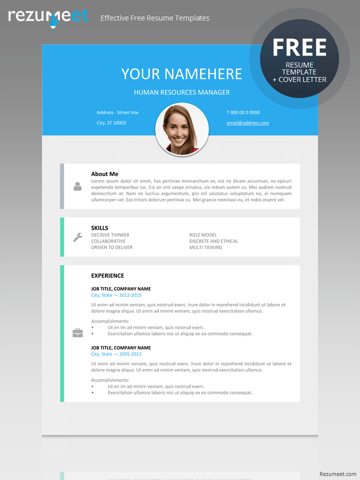 free modern resume template - Modern Resume Template Download