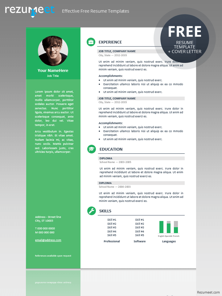 Beautiful Free Professional Resume Template And Free Professional Resume