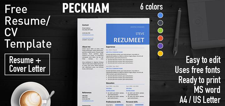 Peckham Professionnal Free Resume Template