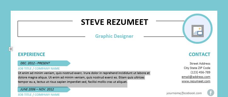 rockdale creative resume template