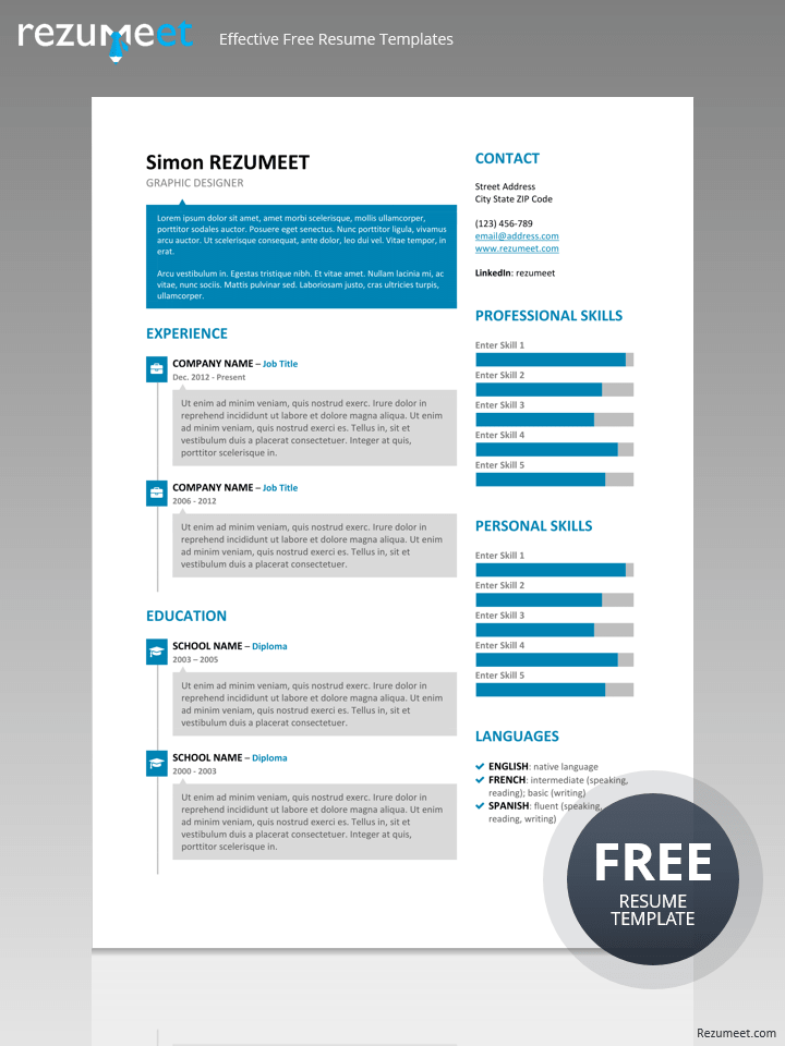 SoHo   Free Creative Resume Template
