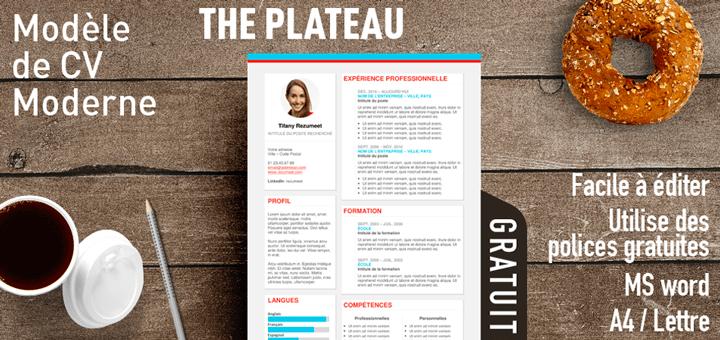 the plateau  u2013 mod u00e8le de cv moderne