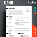 ueno professional resume template - Free Professional Cv Template