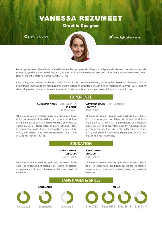 vesterbro  u2013 nature resume template