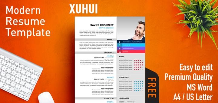 Xuhui - Free Modern Resume Template