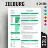 zeeburg classic resume template - Free Resume Template Word
