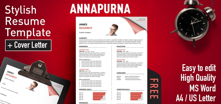 Annapurna Stylish Resume Template