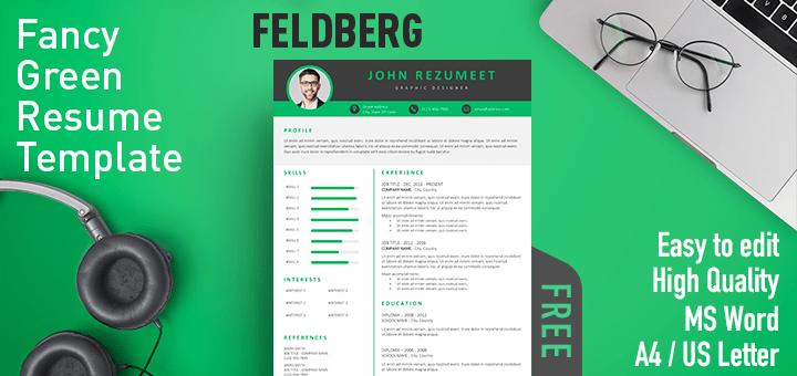Feldberg - Fancy Green Resume Template